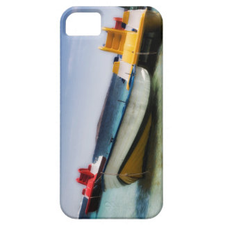 Colorful pedalos and ol boat on the sea iPhone 5 covers