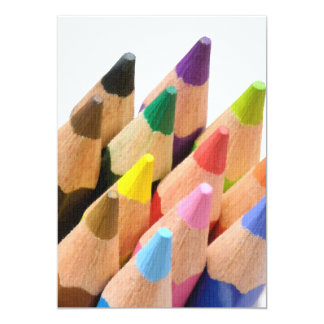 Colorful pencils card