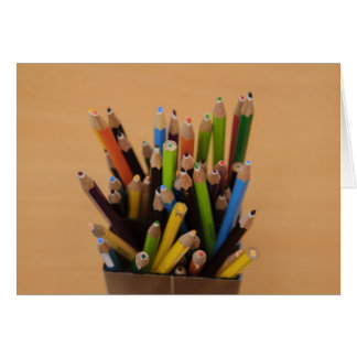 Colorful pencils greeting cards