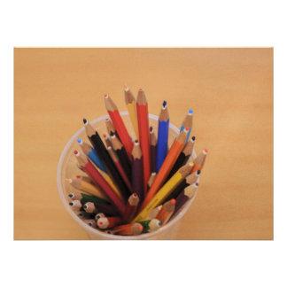 Colorful pencils invitation