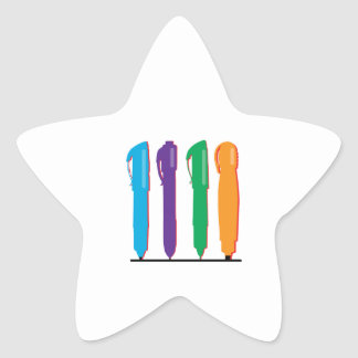 Colorful Pens Sticker