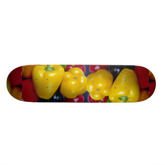 Colorful peppers skate board deck