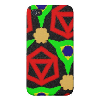 Colorful pern iPhone 4 case