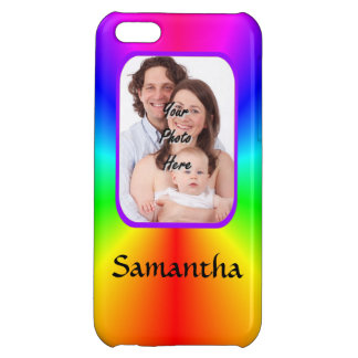 Colorful personalized photo background iPhone 5C cases