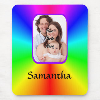 Colorful personalized photo background mouse mat