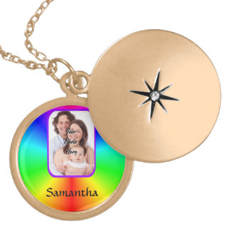 Colorful personalized photo background custom jewelry