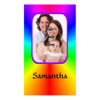 Colorful personalized photo background pack of standard business cards