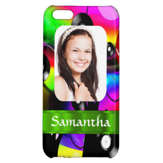 Colorful personalized photo template cover for iPhone 5C