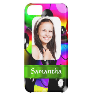 Colorful personalized photo template iPhone 5C case