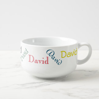 Colorful Personalized Text Soup Bowl