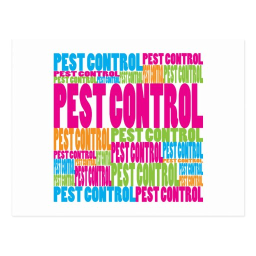 Colorful Pest Control Post Cards