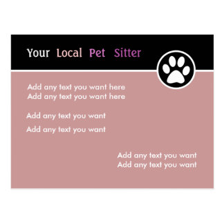 Colorful Pet Sitter Postcard