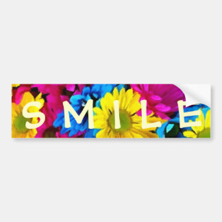 Colorful Petals Daisy Blooms Bumper Stickers