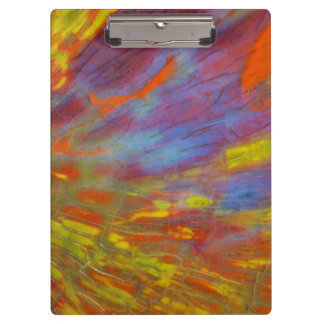 Colorful Petrified Wood close-up Clipboards