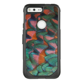 Colorful Pheasant Feathers Abstract OtterBox Commuter Google Pixel Case