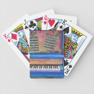 Colorful Piano Bicycle Playing Cards