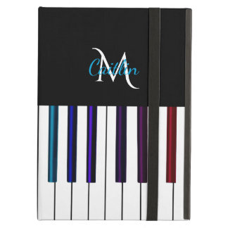 Colorful Piano Keys Monogram iPad Air Cover