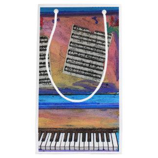 Colorful Piano Small Gift Bag