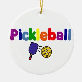 Colorful Pickleball Art Design Christmas Ornament
