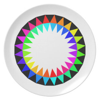 Colorful picnic plate