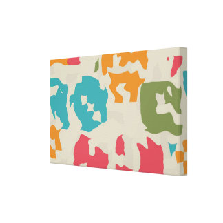 Colorful pieces abstract design gallery wrap canvas
