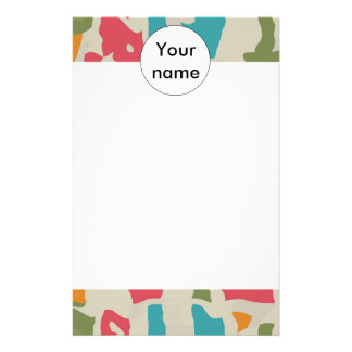 Colorful pieces abstract design stationery design