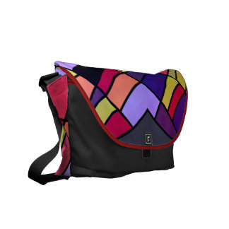 Colorful pieces commuter bags