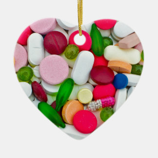 Colorful pills custom product ceramic heart decoration