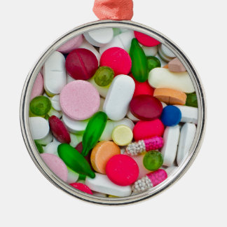 Colorful pills custom product christmas ornament