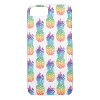 Colorful pineapple print pattern iPhone 7 cover