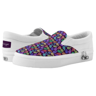 Colorful Pineapple Slip On Shoes. Printed Shoes
