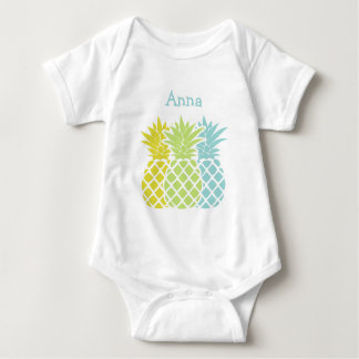 Colorful Pineapples Baby Bodysuit