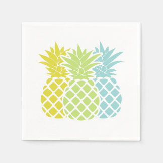 Colorful Pineapples Disposable Serviette