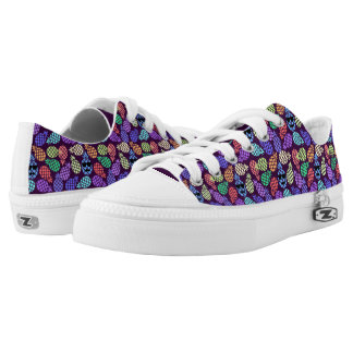 Colorful Pineapples, Low Top Shoes. Printed Shoes