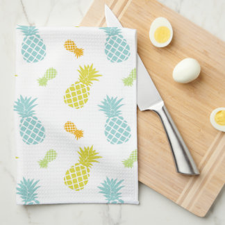 Colorful Pineapples Pattern Tea Towel