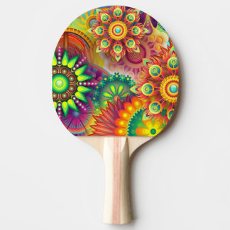 colorful ping pong paddle