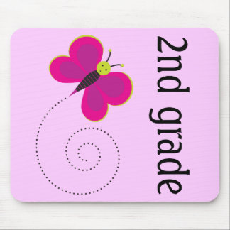 Colorful Pink 2nd Grade Teacher Mousepad