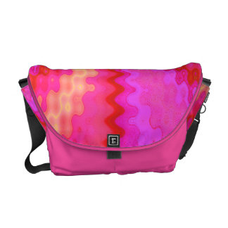 colorful pink abstract courier bag