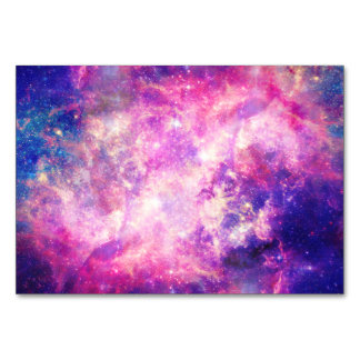 Colorful Pink & Blue Galaxy Nebula Card