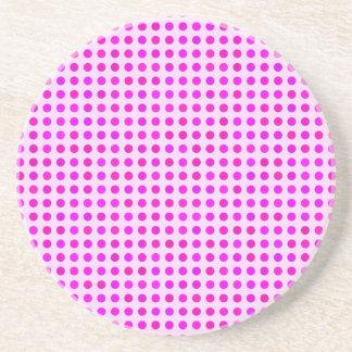Colorful Pink Polka Dot Pattern Trendy Design Drink Coasters