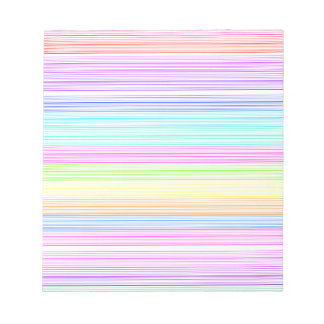 Colorful Pinstripes Notepad