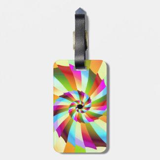 Colorful Pinwheel Abstract Design Luggage Tags