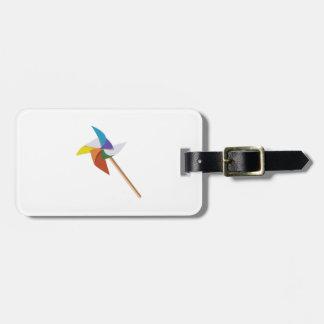 Colorful Pinwheel Bag Tags