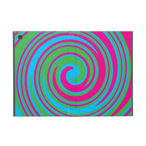 Colorful pinwheel design ipad mini case cover