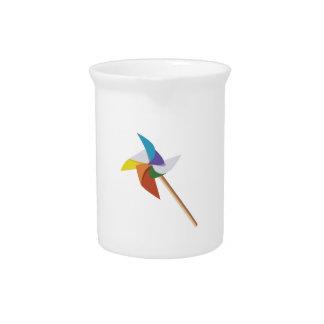 Colorful Pinwheel Drink Pitcher