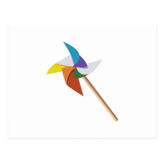 Colorful Pinwheel Postcard