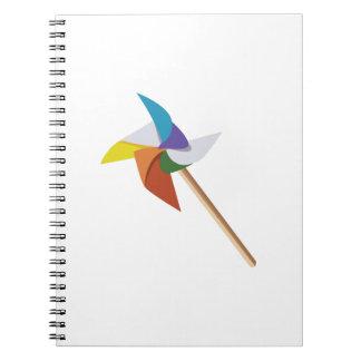 Colorful Pinwheel Spiral Notebook