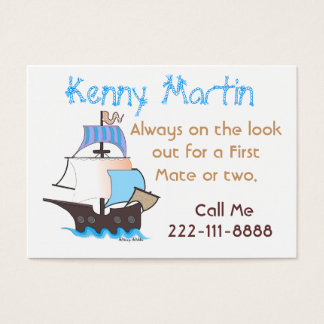 Colorful Pirate Ship Play Date Card