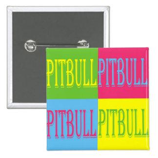 colorful pitbull button