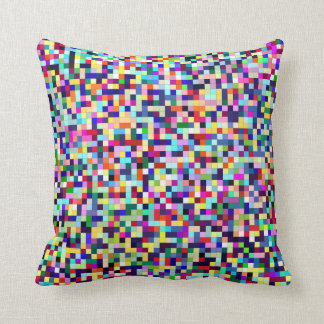Colorful Pixels Throw Pillow